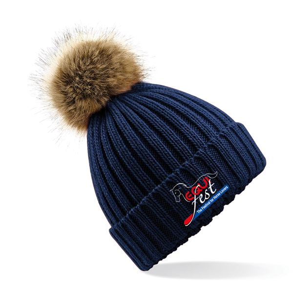 Equifest Faux Fur Knitted Hat