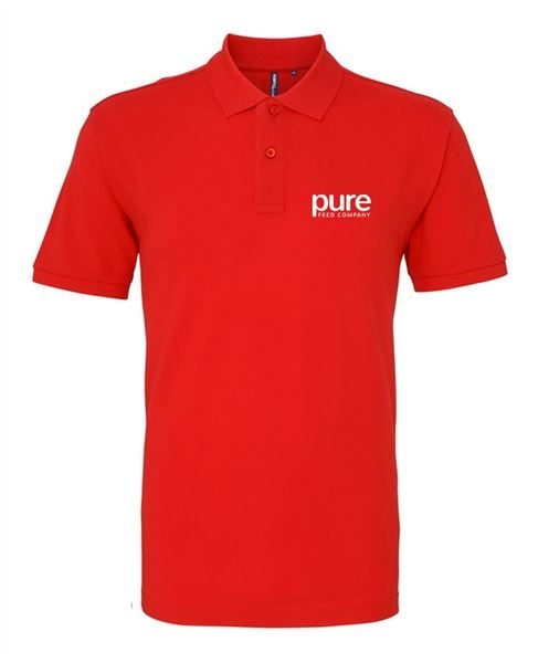 Pure-Unisex-Poloshirts-red