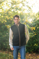 harvey navy gilet lifestyle picture