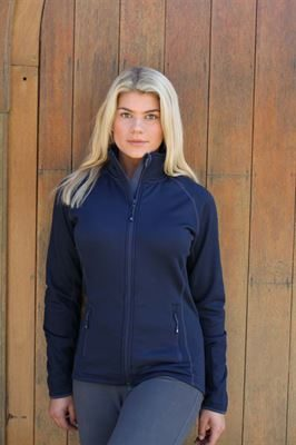 Navy zip fleece