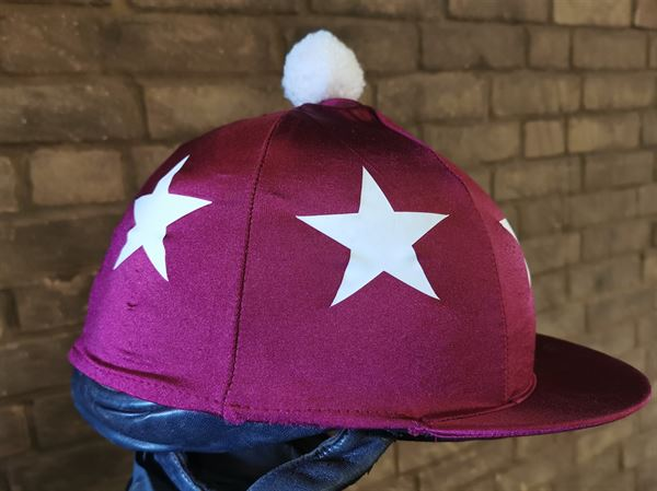 burg white starts hat silk