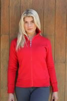 red long sleeve zip top 1