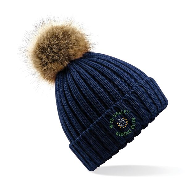 Wye Valley RC Faux Fur Knitted Hat